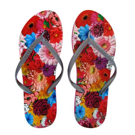 Lady Flip Flops COLORFUL FLOWERS