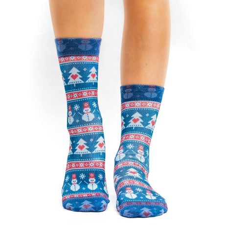Lady Socks KNITTED SNOWMAN