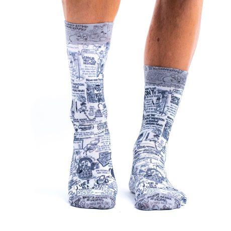 Men Socks B&W COMICS