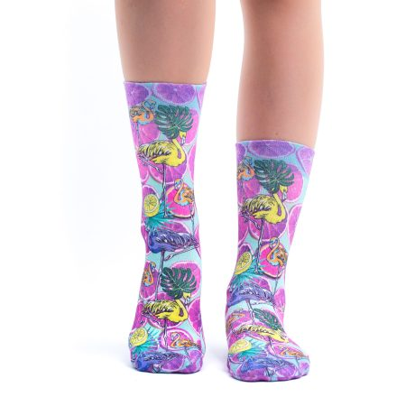 Lady Socks FLAMINGOS & LEMONS I