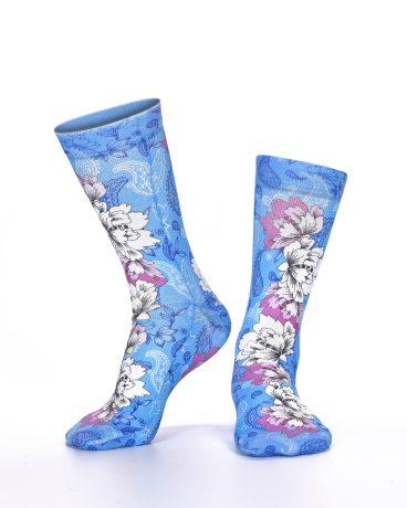 Lady Socks FLOWERS IN BLUE
